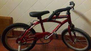Bicicleta Gama Bikes Color Bordo Con Rueditas Para Niños