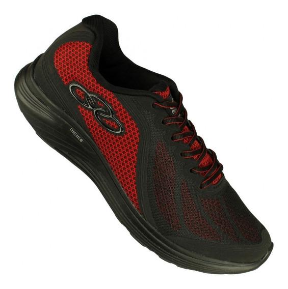 Zapatillas Olympikus Connect Preto Vermelho Hombre Running