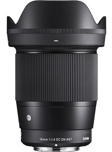 Imagem 1 de 5 de Objetiva Sigma 16mm F/1.4 Dc Dn Contemporary Para Sony E