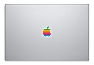 Logo Manzana Apple Macbook Arcoiris 70´s Sticker