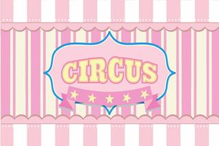 Tapete Para Decoração De Festa Circo Rosa 002