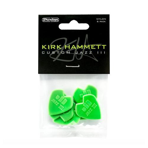 6 Picks Dunlop 47pkh3n Kirk Hammett Signature Jazz Iii
