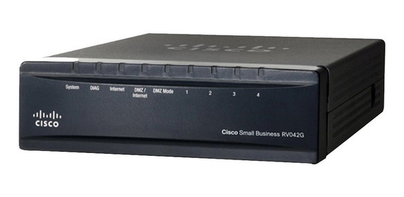 Router Cisco Rv042 Dual Gigabit Wan 50vpn Rv042g 4 Port