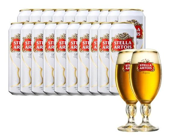 Cerveza Stella Artois 473ml 24x20 + 2 Copas De Regalo