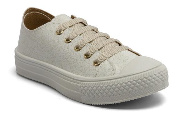 Tênis Looshoes Kids Converse Branco Glitter 812-65