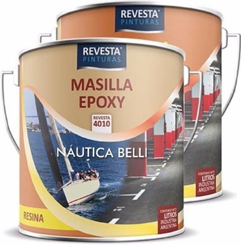 Masilla Epoxi Nautica Bañeras Revesta 4010 - 2 Comp. 1/2lts