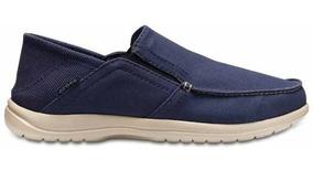 Zapato Crocs Caballero Santa Cruz Convertible Azul Marino
