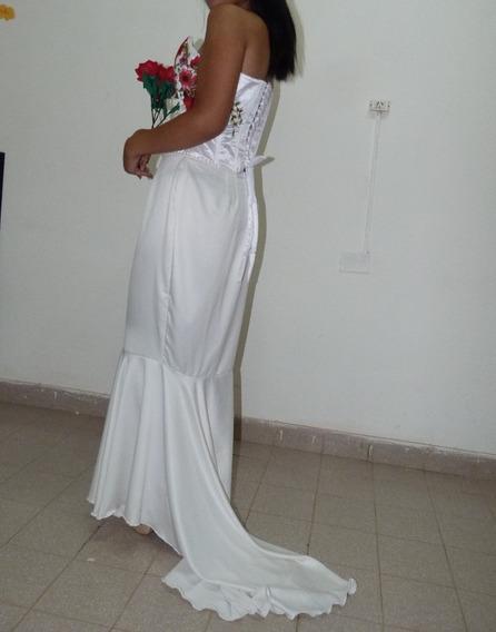 Vestido De Novia Diseño Único. Con Detalles En Rosas
