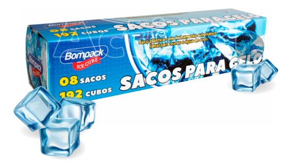 Sacos Para Gelo Descartavel 192 Cubos