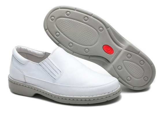 Sapato Masculino Enfermagem Médico Couro 100% Dentista Macio