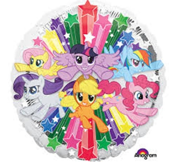 4 My Little Pequeño Pony Globo Metalico Mix Fiesta Helio De