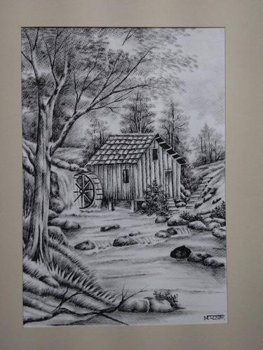 Pinturas Hechas Con Tinta China 60cmx45 Mercado Libre