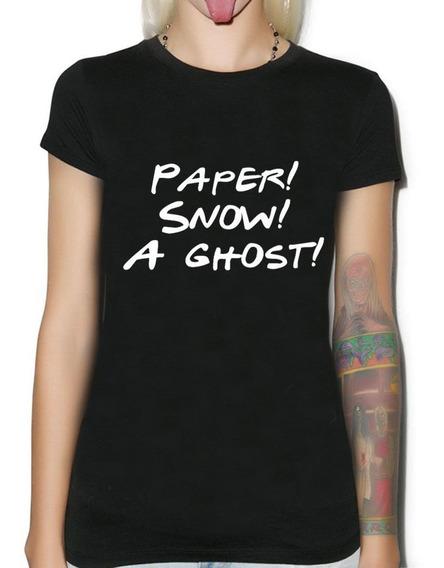Remera Dama Friends Joey Tribbiani Paper Snow A Ghost