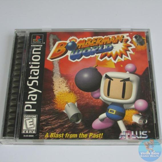 Ps1 Bomberman World Original Completo Americano Rare++