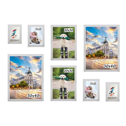 Imagem 1 de 5 de Kit 8 Porta Retratos Painel Parede Branco
