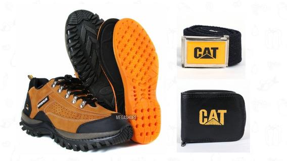 Coturno Bota Tênis Adventure Caterpillar Original + Brindes