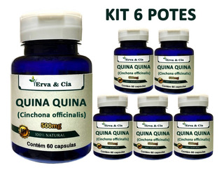 Quina Quina 100% Pura Natural 360 Cápsulas 500mg Kit 6 Potes