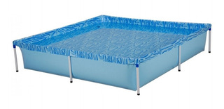Pileta estructural azul MOR 001003 cuadrada de 1.89m de largo x 1.89m de ancho