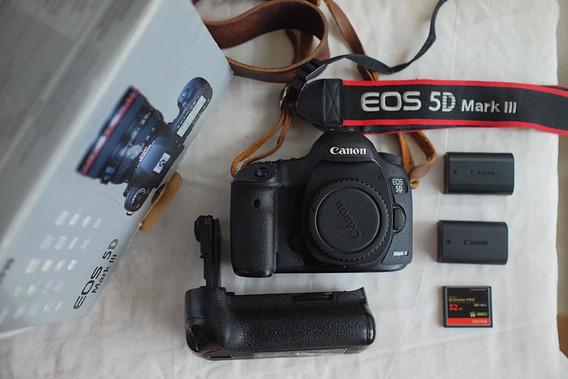 Camera Full Frame Canon 5d Mark Iii Kit Lente 24-70mm 2.8 Ii