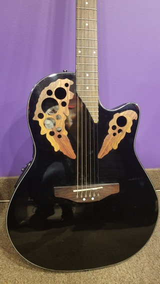 Guitarra Electroacustica Ovation Aplausse Ae44-5 Exhibida