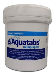 Tabletas Purificadoras Aquatabs 1,67g Para Tanques De 500l