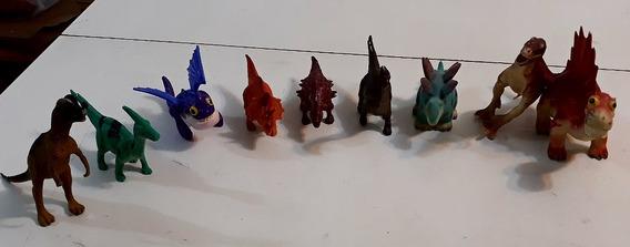 9 Dinossauros Com Aproximadamente 12cm