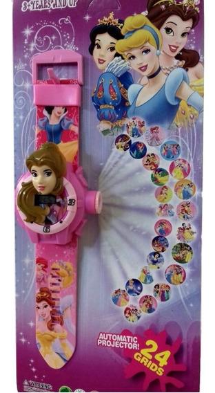 Relógio As Princesas Infantil Projetor Imagem Bela