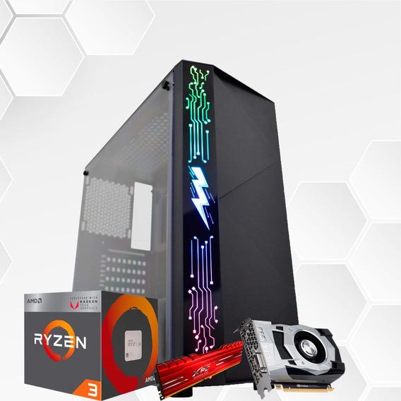 Pc Gamer Amd Ryzen 2200g, Asus A320, Gtx1650 4gb, 8gb,ssd512