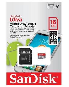 Cartão Micro Sd 16gb Sandisk Classe10 48mbs
