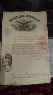 Documento Antiguo Porfiriano De 1907.