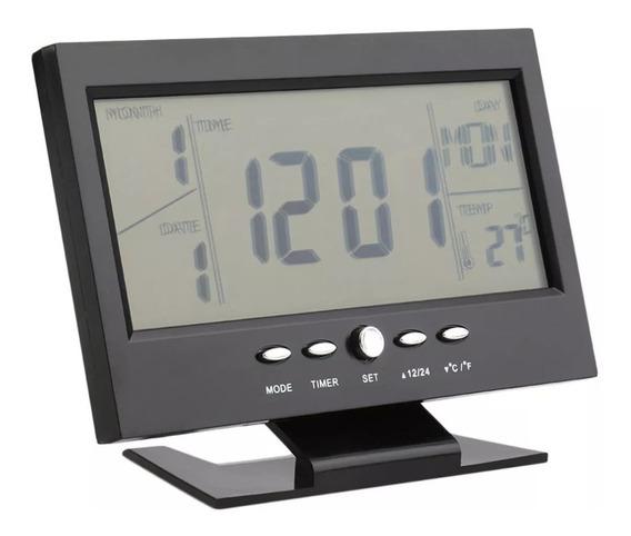 Relógio Mesa Digital Calendário Termômetro Despertador L81