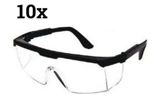 Óculos Proteção Segurança Rj Incolor Promoção Kit 10 Peças