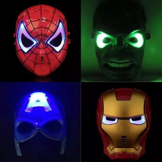 Mascaras Con Luz Led ! Superheroes! Nuevo