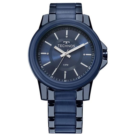 Relógio Technos Masculino Aço Inoxidável Azul 2035mkj/4a