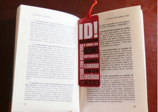 Separador Libro Personalizado. Invitaciones,recordatorios...
