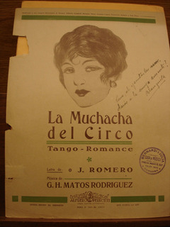 Partitura La Muchacha Del Circo Tango Romance Romero Rodrig