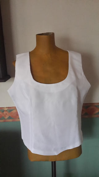 Top Blanco. Para Mucho Busto.t L.medidas.san Isidro