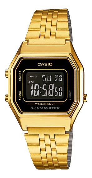 Relógio Casio La680wga-1bdf Unissex Dourado - Refinado