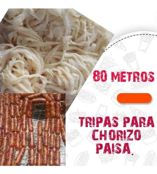 Tripas Para Elaborar Chorizo Paisa 80 Mtrs Envio Gratis.