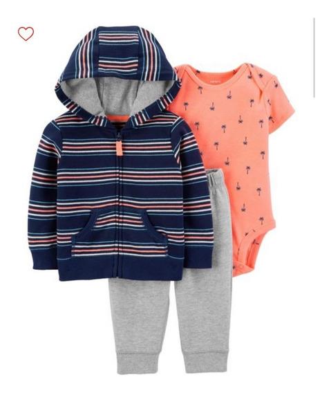 Conjunto Carters Fleece Inverno 3 Peças Bebê Menina Menino