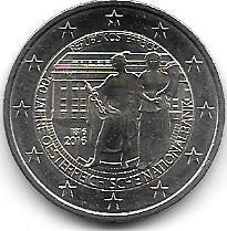 Moneda Austria Bimetalica 2 Euro Año 2016 Banco Nacional