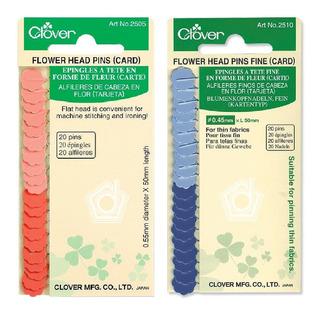 Alfileres Finos Cabeza Plana Clover 2510 Y Q2505