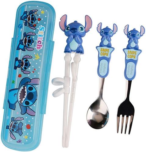 Imagen 1 de 3 de Disney Stitch - Juego De Cubiertos Para Vajilla Y Cubiert...