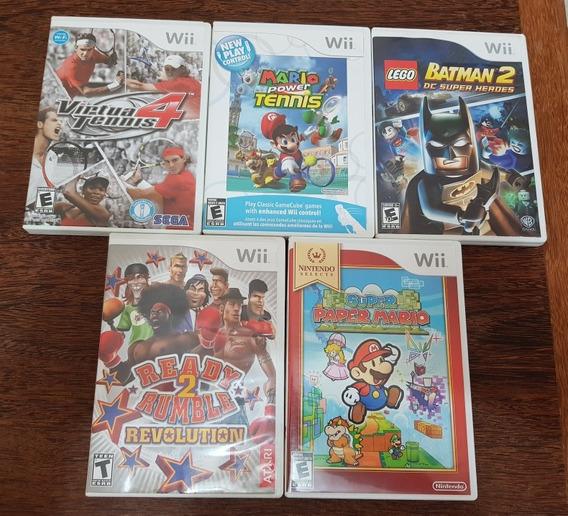 05 Jogos Originais Wii - Mídia Física