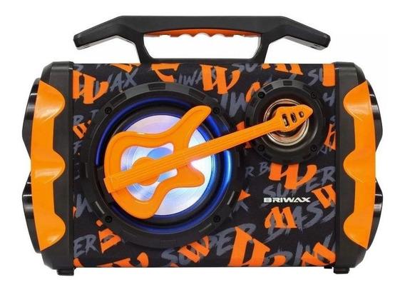 Caixa de som Briwax FBX-109 portátil sem fio Laranja 110V/220V
