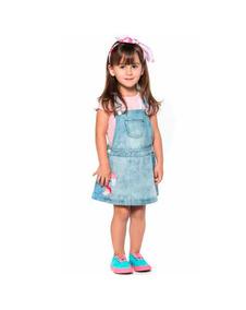 Salopete Jeans Infantil Mon Sucré