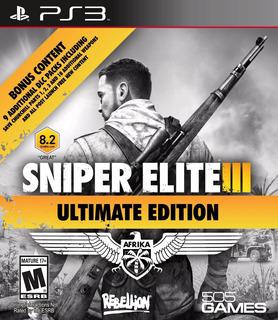 Sniper Elite 3 Ultimate Edition Ps3 Digital Gcp