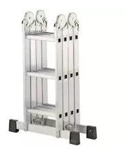 Escalera Aluminio Multifuncion Articulada Plega 3.7m Pintumm