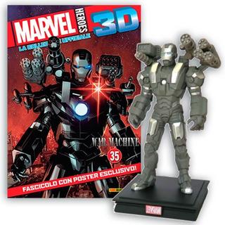 Marvel 3d Súper Héroes Figura War Machine #38 + Poster