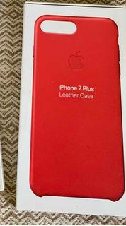 Capa iPhone 7 Plus Red De Couro Original Apple